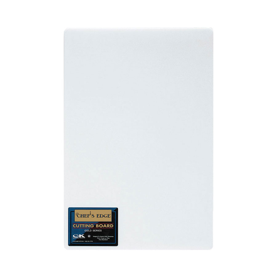 "Tomlinson 1933020 Gold Series Full Sheet Cutting Board, 55 x 120 x 2"", White"