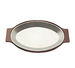 Tomlinson 1006371 Oval Die Cast Dinner Platter, 8 x 12-in, Burnished Finish