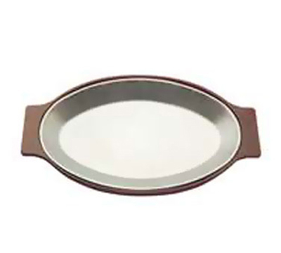 Tomlinson 1006369 Oval Dinner Platter, 8 x 12-in, Frosty Finish