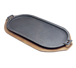 Tomlinson 1016982 Cast Iron Serving Griddle w/ Handles, 18 x 9-1/4-in
