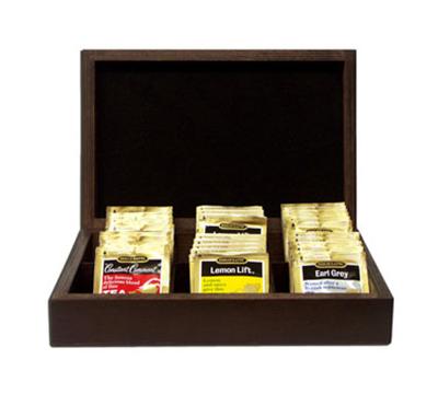 Tomlinson 1019443 Red Mahogany Tea Box, 7-1/4 x 2-1/2 x 11-in W