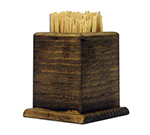 Tomlinson 1020219 Toothpick Holder, Walnut Finish