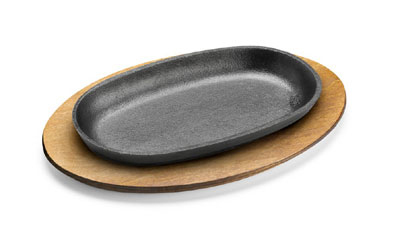 Tomlinson 1023047 Wood Underliner For 11 x 7-in Oval Skillet