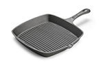 Tomlinson 1023000 Preseasoned Square Cast Iron Skillet, 9-1/2-in, Ribbed