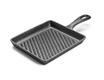 Tomlinson 1023003 Preseasoned Rectangular Cast Iron Skillet, 8-1/4 x 7-in, Ribbed