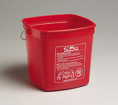 Tomlinson 1034040 Solution Pail, 190-oz, Red