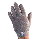 Tomlinson 1036468 Full Hand Metal Mesh Glove, 304L Stainless, Steel Closure, Large