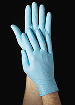 Tomlinson 1036861 4-ml Powdered Disposable Food Service Glove, Blue, X-Large