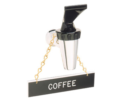 Tomlinson 1912595 Hanging Sign w/ Solid Brass Chain, Coffee, 1 x 4-in