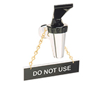 Tomlinson 1912599 Hanging Sign w/ Solid Brass Chain, Do Not Use, 1 x 4-in