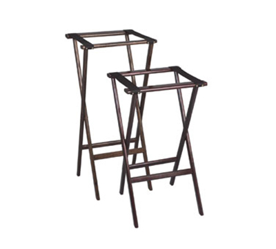 Tomlinson 1016288 30-in Tray Stand, Molded Hardwood w/ Radius Edges & Corners, Walnut Finish