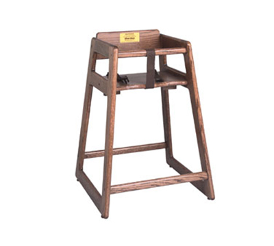 Tomlinson C-30 BK High Chair, .75-in Solid Oak w/ Mortise & Tenon Frame, Black Finish