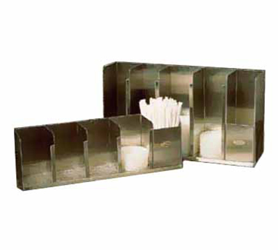 Tomlinson 1004063 Countertop Lid Dispenser w/ 3-Adjustable Dividers, 15.5 x 12.5-in