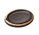 Tomlinson 1025010 Oval Serving Griddle, Cast Iron, 10 x 7-in