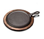 Tomlinson 1016271 9-in Round Griddle w/ Handle, Raised, Cast Iron