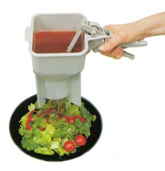 Traex 2800-31 Sauce Boss Portion Control Dispenser Legs 8 Settings Gray Restaurant Supply