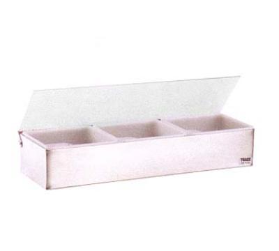 Traex 4705 Kondi Keeper Condiment Dispenser (3) 1 Qt Stainless Steel Plastic Lid Restaurant Supply