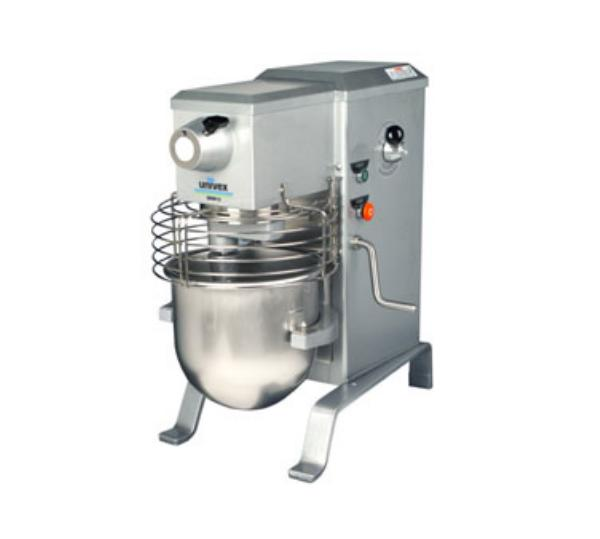 Univex SRM12 12 Qt Planetary Mixer w/ SS Bowl, Beater, Wire Whip, Safety Guard