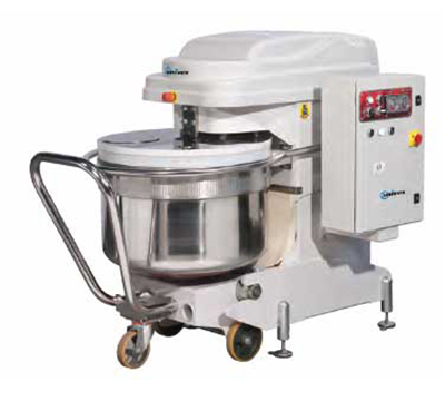 Univex SL300RB Spiral Mixer w/ 2-Speeds, Reverse & Removable Bowl, 660-lb Dough Capacity, 220v/3ph