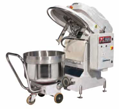 Univex SL250RB Spiral Mixer w/ 2-Speeds, Reverse & Removable Bowl, 550-lb Dough Capacity