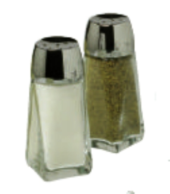 Anchor 12866 4-in Continental Salt pepper Shakers, Crystal