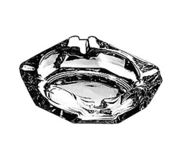 Anchor 143U Ash Tray, 3-5/8in Square, Glass