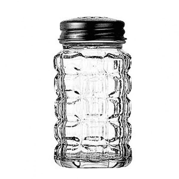 Anchor 1830EU Crystal Salt & Pepper Shaker with Aluminum Cap, Glass, 2 oz.
