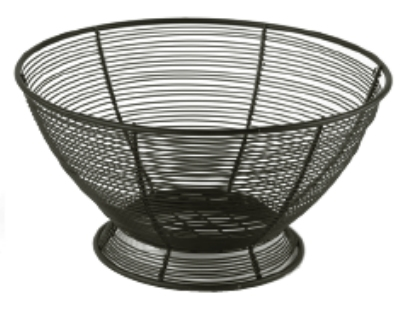 Anchor 23473MR Round Wire Fruit Basket, Black