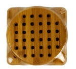 Anchor 23685 2-Piece Trivet Set w/ 1-Round & 1-Square Trivet, Bamboo