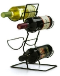 Anchor 25535MR Wire Wine Rack w/ 4-Bottel Capacity, Black