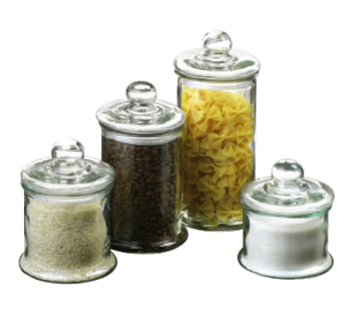Anchor 27476 4-Piece Round Canister Set w/ Ball Lids, Glass