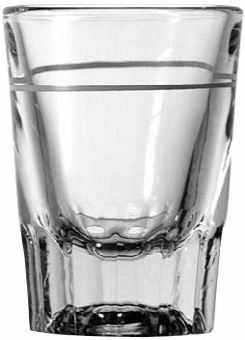 Anchor 5282/928U Whiskey Shot Glass with 1 oz. Cap Line , 2 oz. glass