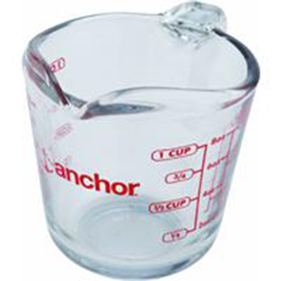 Anchor 55175OL11 8-oz Measuring Cup w/ Open Handle