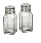 Anchor 62421C 4-in Square Salt & Pepper Shakers, Crystal