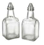 Anchor 62425 Vinegar Oil Bottle w/ Stainless Lid, Crystal