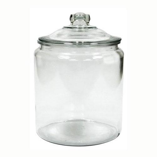 Anchor 69372MN 2-Gallon Heritage Hill Storage Jar - Glass, Clear