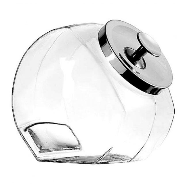 Anchor 69590R 1 gallon Penny Candy Jar With Chrome Lid