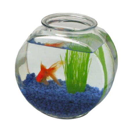 Anchor 70 8 2 gal fish bowl crystal for 2 gallon fish bowl