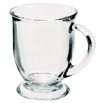 Anchor 80836L8 Mug Set, (16) 16 oz Cafe Mugs, Crystal