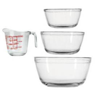Anchor 81104L5 4-Piece Mixing Set w/ 1.5-qt Bowl, 2.5-qt Bowl, 4-qt Bowl & 8-oz Measuring Cup