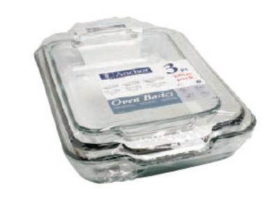 Anchor 81235OBL5 3 piece Value Pack Bake Set, Includes 2, 3 and 5 qt Bake Dishes