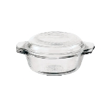 Anchor 81564OBL11 12-oz Casserole Cover, Glass, Clear