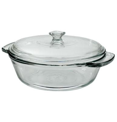 Anchor 81932OBL5 2 qt Oven Basics Casserole Dish, With Glass Cover, Crystal