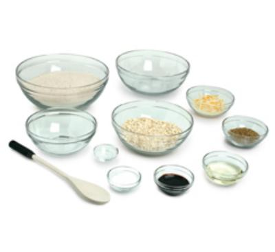 Anchor 82665L9 10-Piece Mixing Bowl Set w/ Assorted Sizes, Glass