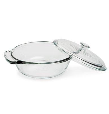Anchor 82754OBL5 1-1/2 qt Oven Basics Casserole Dish, With Glass Cover, Crystal