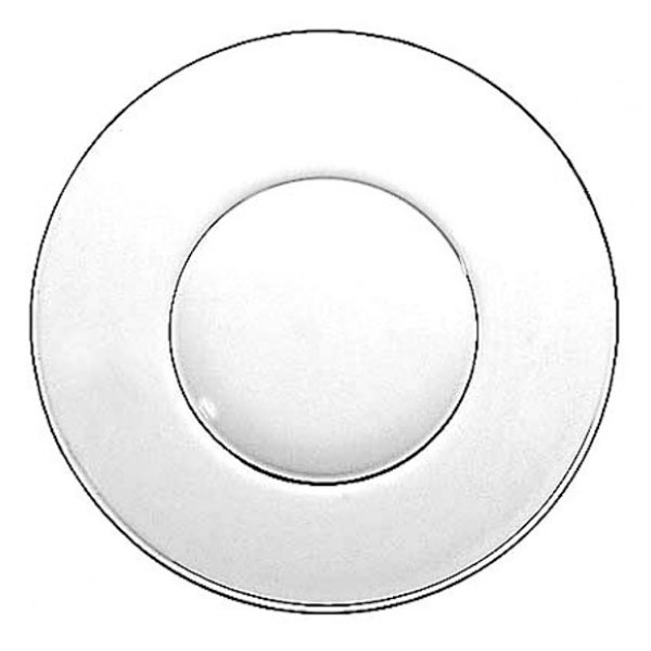Anchor 80001 Dinner Plate, 10 in, Glass, Swedish Modern Design