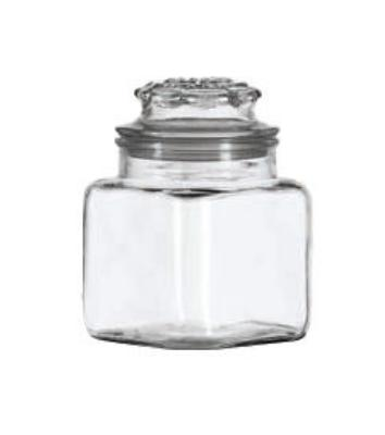 Anchor 84K 36 oz Fountain Square Jar With Glass Lid