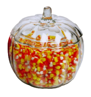 Anchor 85623R9 70-oz Pumpkin Jar w/ Glass Cover, Crystal
