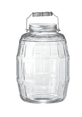 Anchor 85679 2.5-gal Barrel Jar w/ Handle & Brushed Aluminum Lid