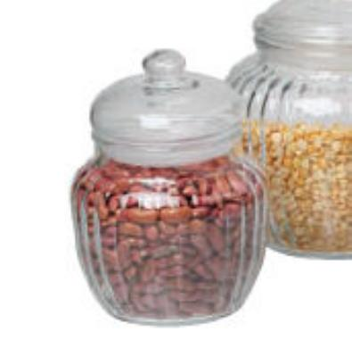 Anchor 85800 20-oz Optic Jar w/ Glass Lid